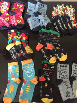 Socky Wockys range of cool & fun motivational socks
